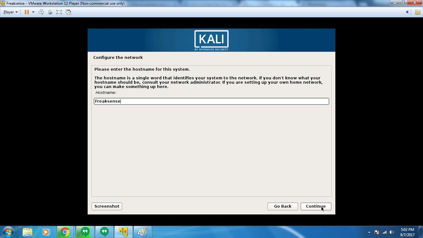 kali linux iso for vmware workstation 12