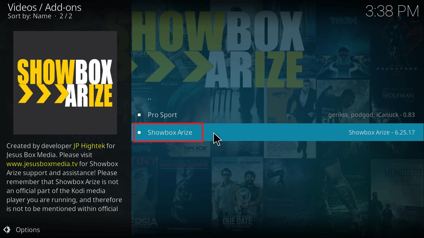showbox on Kod