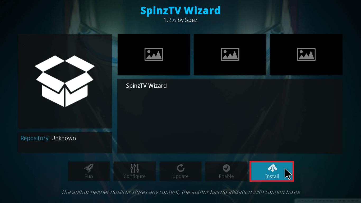 spinz tv on kodi