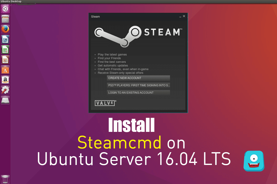 how to install steamcmd on ubuntu server lts xenial xerus. Black Bedroom Furniture Sets. Home Design Ideas