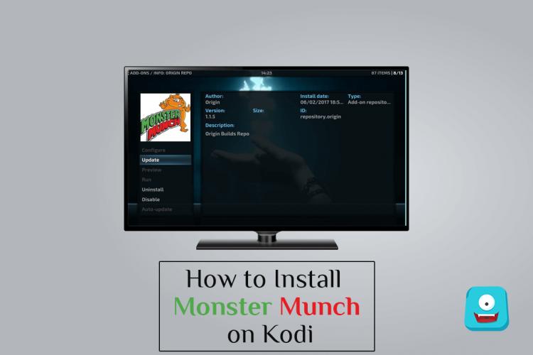How to Install Monster Munch on Kodi